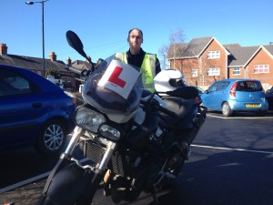 Passed his Mod 2 test with Pit-Stop Training, Motorcycle Training Isle of Wight